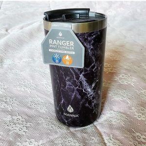 black & white marble bnwt mug travel bottle